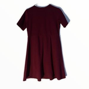 Workhall Dress/ Maroon Large